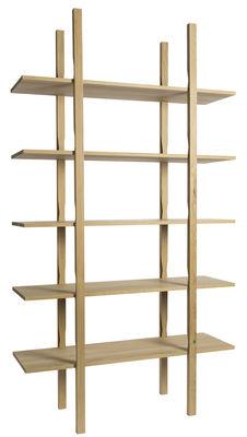 Furniture - Bookcases & Bookshelves - The Wooden Shelf Shelf by Hay - L 120 cm / Natural wood - Solid oak