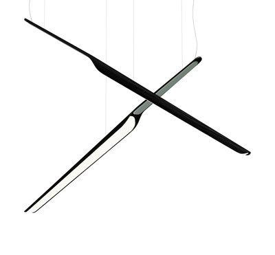 Image of Sospensione Swan Wing - / Legno - L 118 cm di Tunto - Nero - Legno