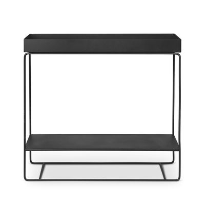 Furniture - Shelves & Storage Furniture - Plant Box Two Standing flowerpot - / 2 stages  - L 80 x H 75 cm x Depth 25 cm by Ferm Living - Black - Epoxy lacquered steel