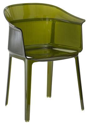 Papyrus Stapelbarer Sessel - Kartell - Grün