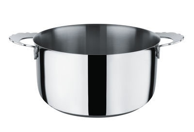 Kitchenware - Pots & Pans - Dressed Stew pot - Ø 20 cm by Alessi - Mirror polished steel - Stainless steel 18/10