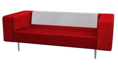 Furniture - Sofas - Bottoni Straight sofa - 2 seats by Moooi - Red - Wool