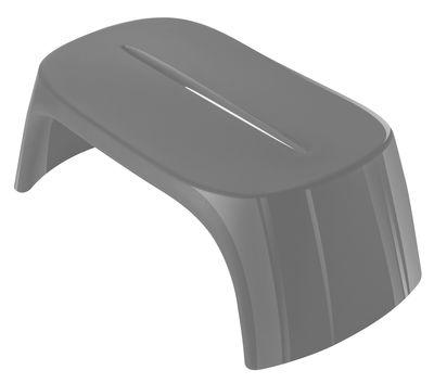 Table basse Amélie / Banc - Version laquée - L 108 cm - Slide laqué gris en matière plastique