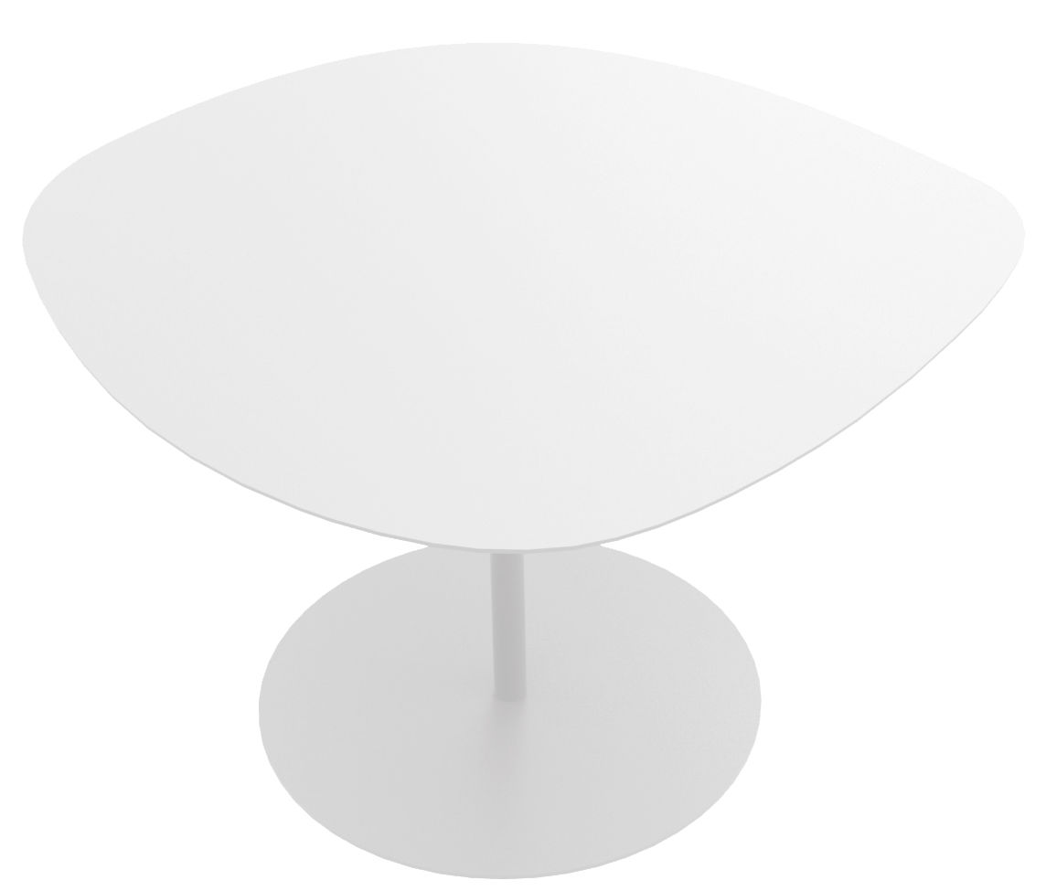 Mobilier - Tables basses - Table basse Galet n°1 / INDOOR - 59 x 63 - H 39,9 cm - Matière Grise - Blanc - Acier
