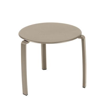 Table d'appoint Alizé / Ø 48 cm - Métal - Fermob marron/beige en métal