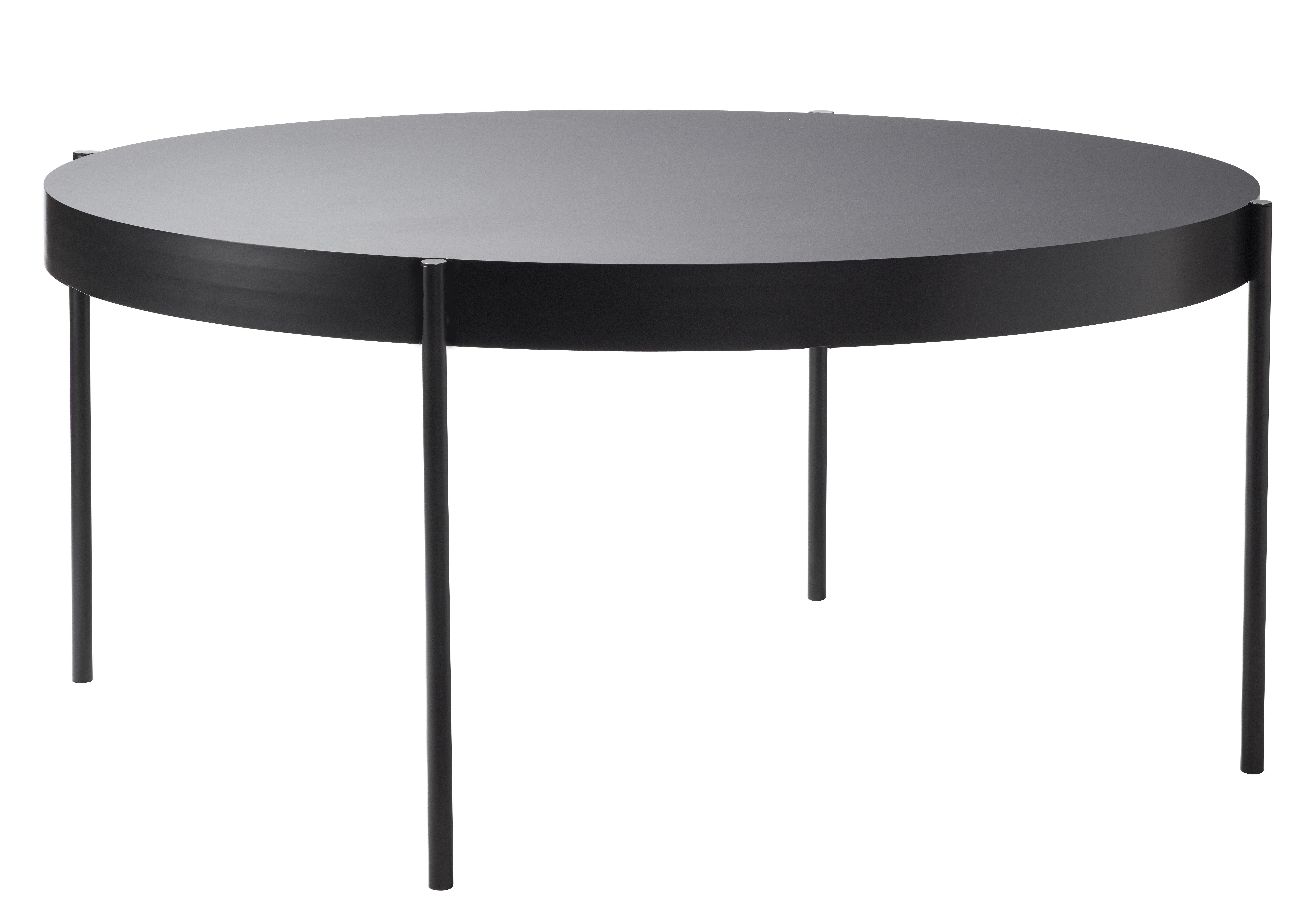 Tendances - À taaable ! - Table ronde Series 430 / Ø 160 cm - Fenix-NTM® - Verpan - Noir - Acier laqué, MDF, Thermo-stratifié Fenix-NTM®