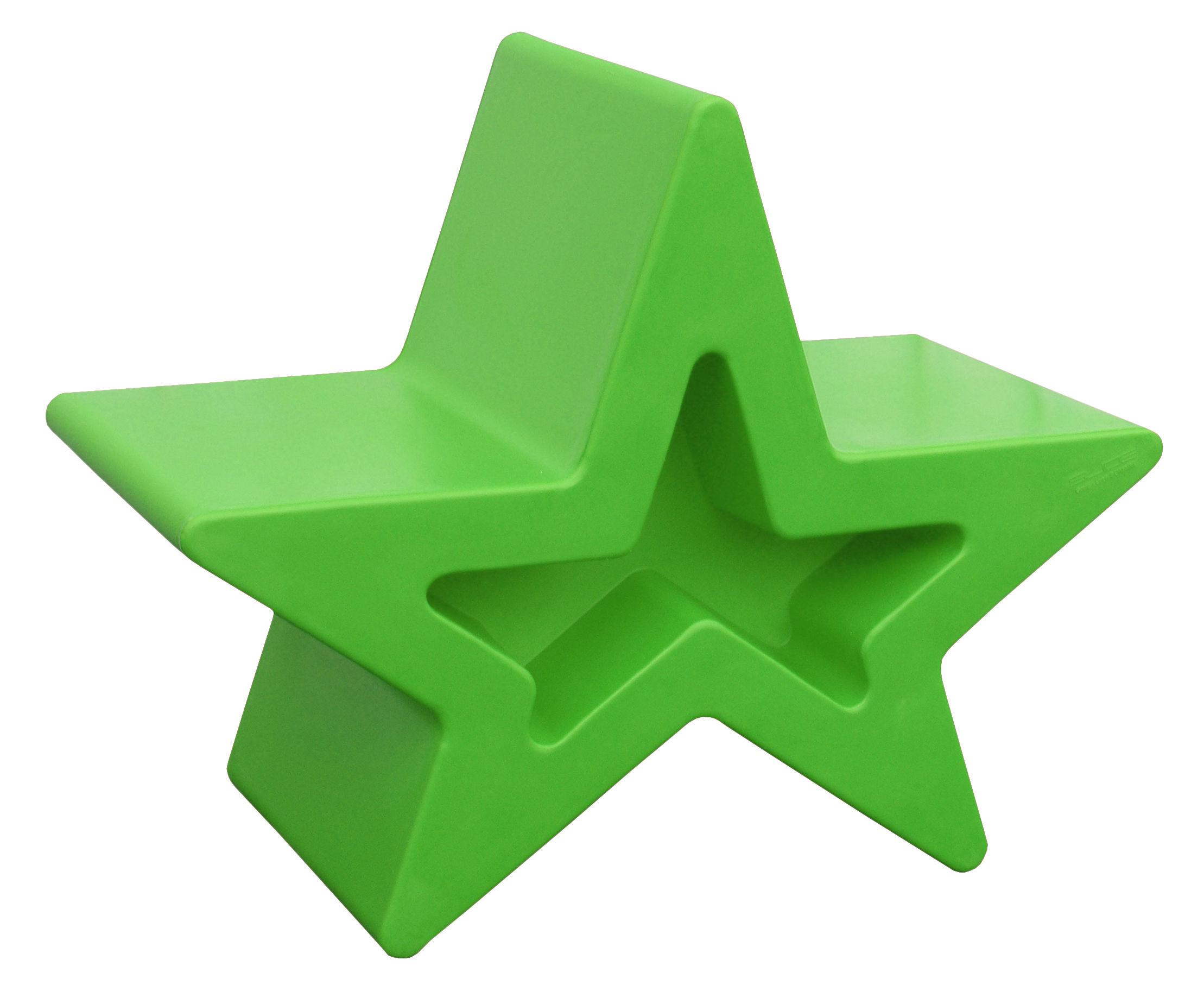 Tabouret bas Astra fauteuil - Slide - Vert - Polyéthylène
