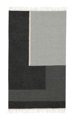 Déco - Tapis - Tapis Kelim Section / Petit - 140 x 80 cm - Ferm Living - Petit - Noir & Blanc - Coton, Laine