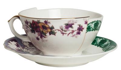 Tasse à thé Hybrid Isidora / Set tasse + soucoupe - Seletti multicolore en céramique