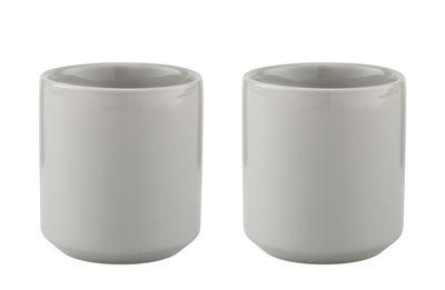 Arts de la table - Tasses et mugs - Tasse  isotherme Core / Grès - Set de 2 - Stelton - Gris clair - Grès