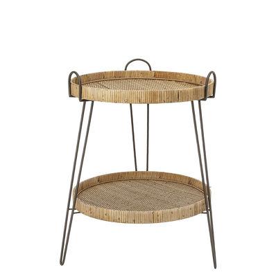 Arredamento - Tavolini  - Tavolino d'appoggio Nature - / Rattan di Bloomingville - Rattan / Nero - Ferro, Midollino