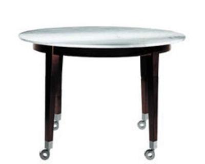 Arredamento - Mobili d'eccezione - Tavolo rotondo Neoz - Ø 129 cm di Driade - Ebano/marmo - Marmo, Mogano