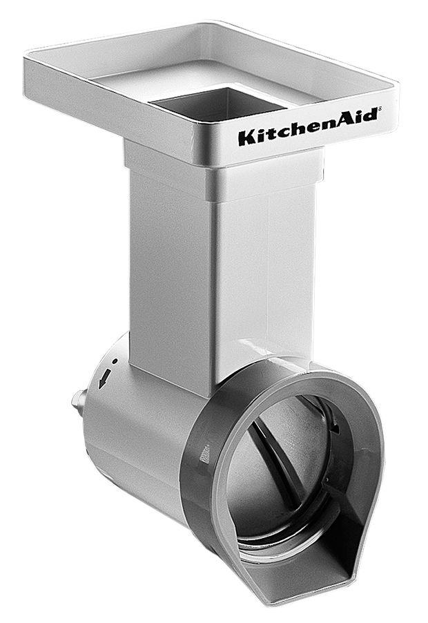 Cuisine - Electroménager - Accessoire pour batteur sur socle Accessoire pour Batteur sur socle tranchoir / râpe à cylindres - KitchenAid - Blanc - Métal