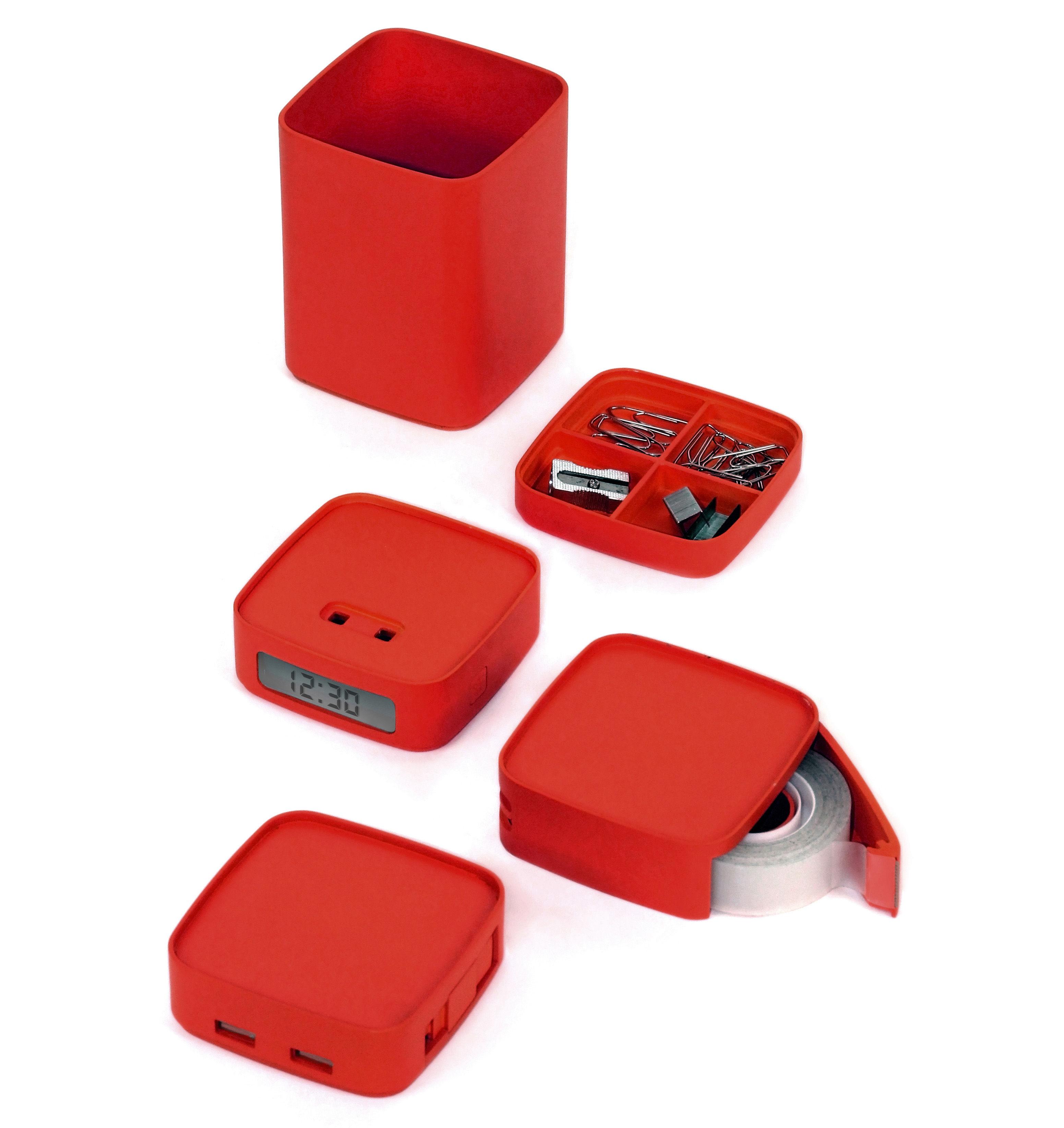 Mini totem accessori ufficio set da ufficio 5 in 2 nero by lexon made in design - Accessori ufficio design ...
