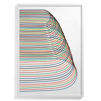 Affiche encadrée Pierre Charpin - Loop 4 / Edition limitée & numérotée - 81 x 110 cm - The Wrong Shop multicolore en papier