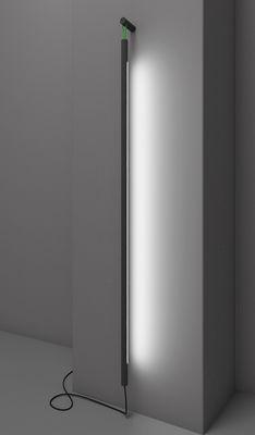Luminaire - Appliques - Applique avec prise Colibri LED / H 139 cm - Martinelli Luce - Noir / Cordon vert - Aluminium peint