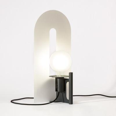 Luminaire - Lampes de table - Applique Cavallo / Applique - L 25 x H 52 cm - Diamantini & Domeniconi - Blanc / Gris anthracite - Fer peint laqué époxy, Tôle