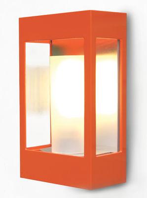Applique d'extérieur Brick - Roger Pradier orange en métal