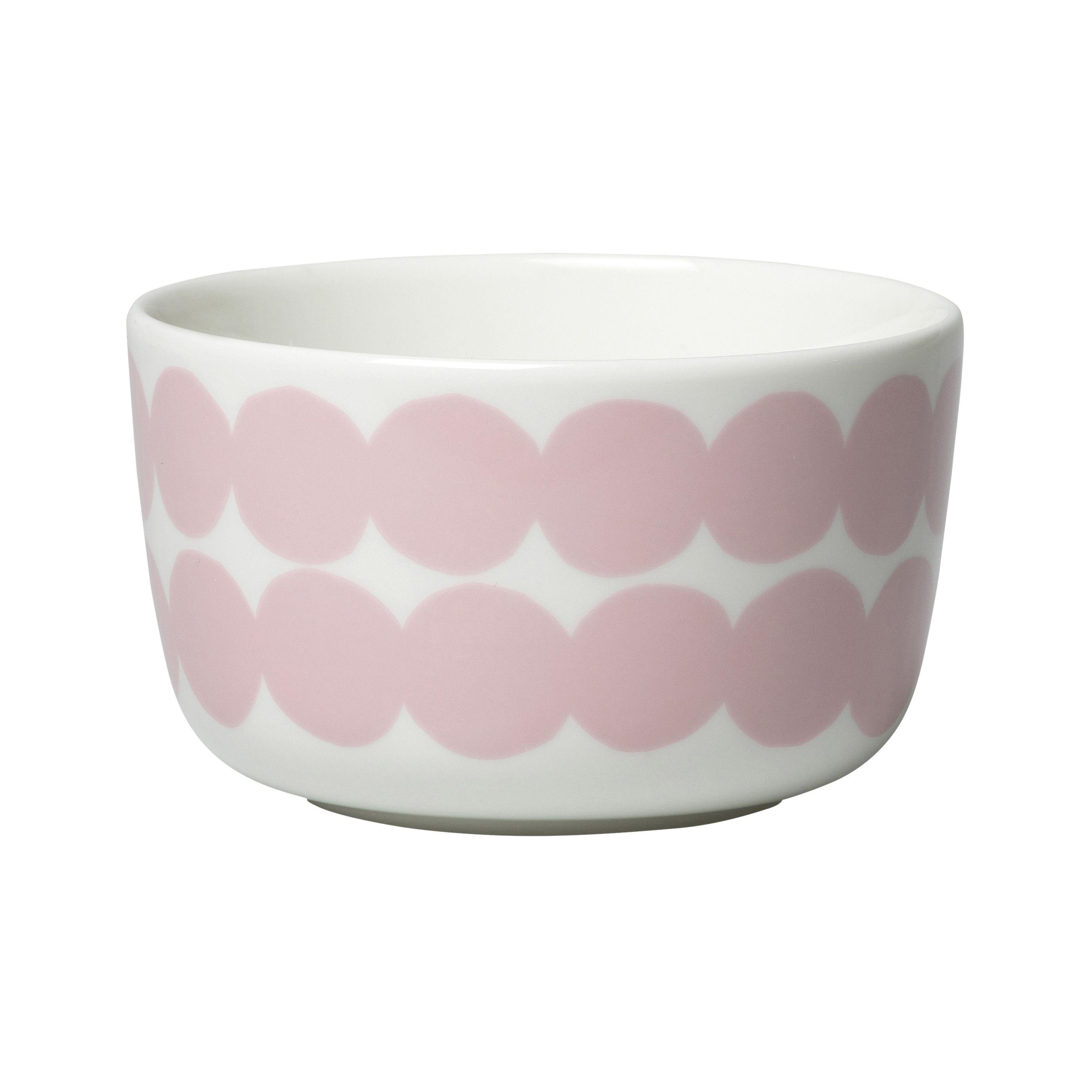 Tableware - Bowls - Siirtolapuutarha Bowl - / Ø 9.5 cm by Marimekko - Siirtolapuutarha / Pink - Sandstone