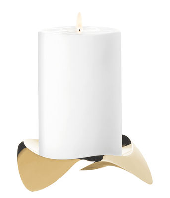 Decoration - Candles & Candle Holders - Papilio Uno Candle stick by Stelton - Brass - Brass, Stainless steel