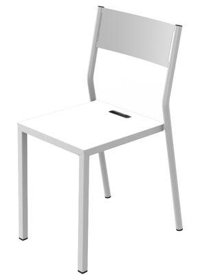 Chaise empilable Take / Métal - Matière Grise blanc en métal