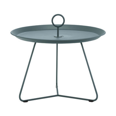 Furniture - Coffee Tables - Eyelet Medium Coffee table - / Ø 60 x H 43.5 cm - Metal by Houe - Fir tree green - Epoxy lacquered metal