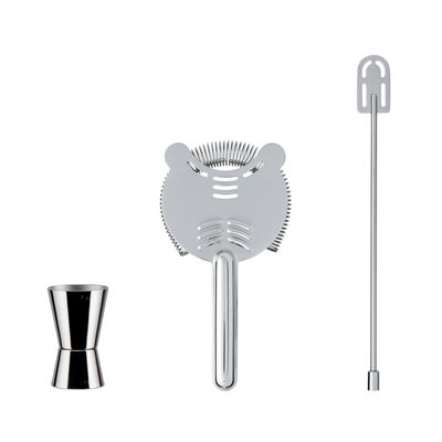 Tableware - Wine Accessories - Cocktail box - / 3-piece set by Alessi - Steel - Stainless steel
