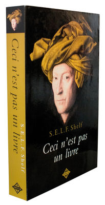 Etagère Self Shelf - Ceci n'est pas un livre / Trompe-l'œil - Zho - Pop Corn bronze,noir,beige en bois