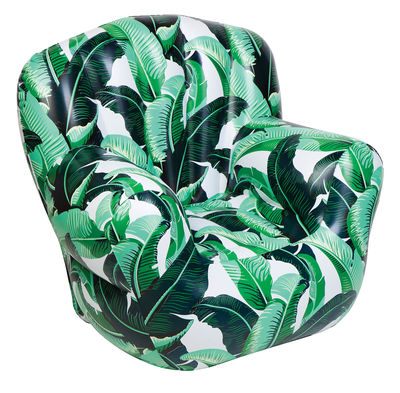 Jardin - Fauteuils - Fauteuil gonflable Banana Palm - Sunnylife - Vert / Motifs tropicaux - PVC haute résistance