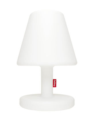 Lighting - Table Lamps - Edison the Grand Bluetooth Floor lamp - / H 90 cm - LED by Fatboy - White / Bluetooth - Polythene