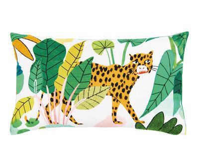 Bodil Kissen / 50 x 30 cm - Leopard - & klevering - Bunt,Grün