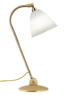 Illuminazione - Lampade da tavolo - Lampada da tavolo Bestlite BL2 - / Riedizione 1930 - Paralume porcellana di Gubi - Porcellana bianca / Piede ottone - Ottone, Porcellana