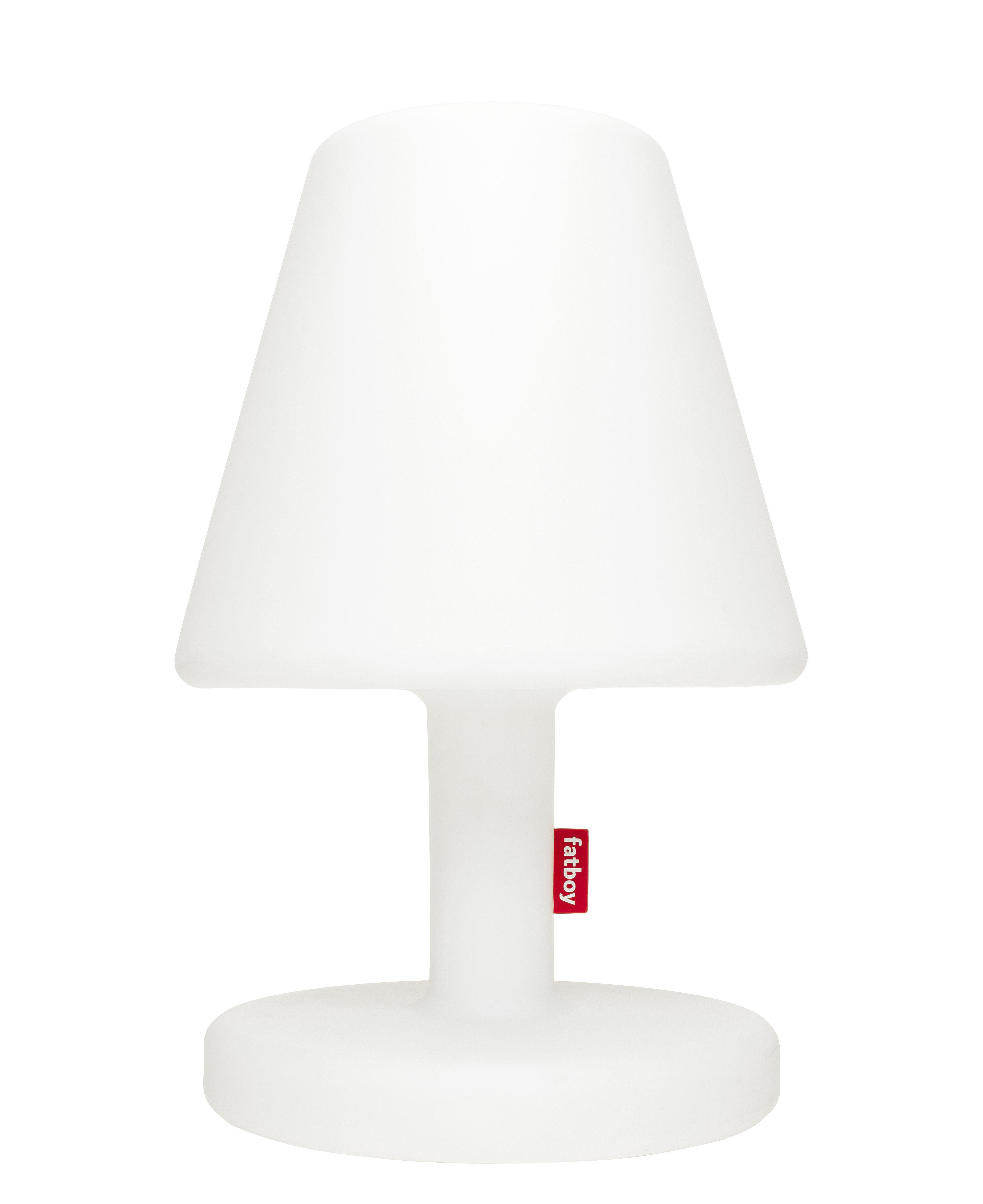 Luminaire - Lampes de table - Lampe de sol Edison the Grand Bluetooth / H 90 cm - LED - Fatboy - Blanc / Bluetooth - Polyéthylène