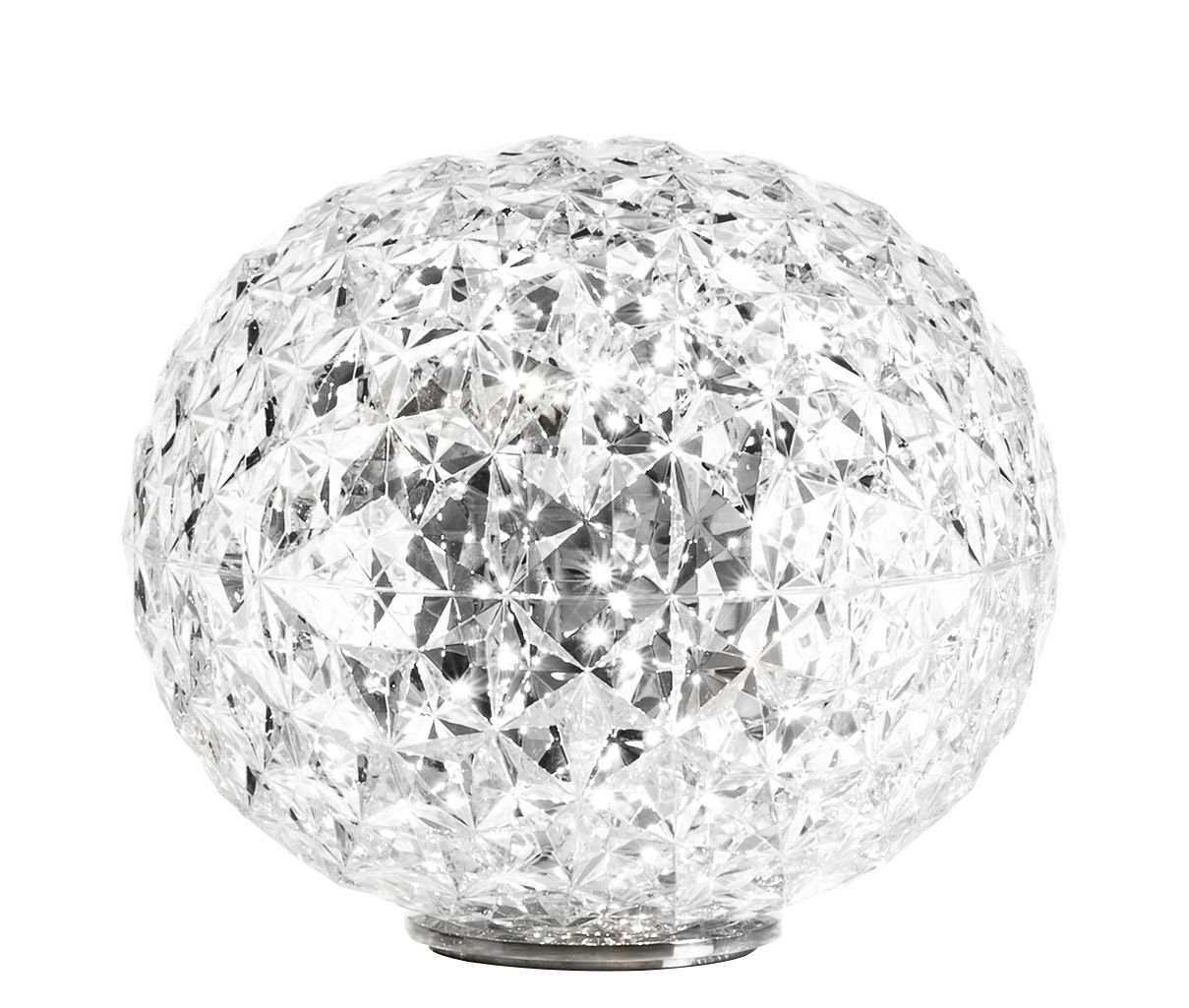 Luminaire - Lampes de table - Lampe de table Planet / LED - H 28 cm - Kartell - Cristal - Technopolymère thermoplastique