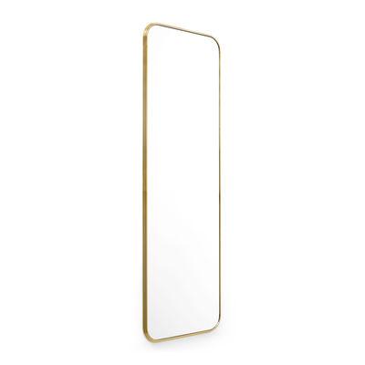 Déco - Miroirs - Miroir mural Sillon SH7 / 60 x H 190 cm - &tradition - Laiton - Acier plaqué laiton, Verre