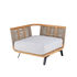 Welcome Modular sofa - / Right armrest module L 90 cm / Teak & rope by Unopiu