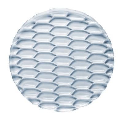 Tavola - Piatti da portata - Piatto da portata Jellies Family - / Ø 33 cm di Kartell - Blu cielo - Tecnopolimero termoplastico