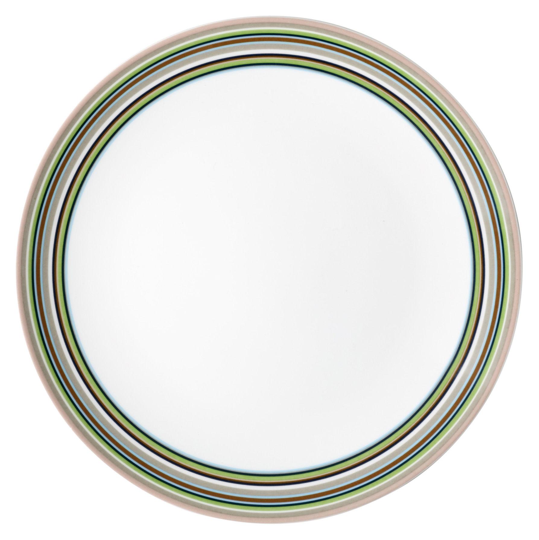 Tavola - Piatti  - Piatto Origo - Ø 26 cm di Iittala - Righe beige - Porcellana