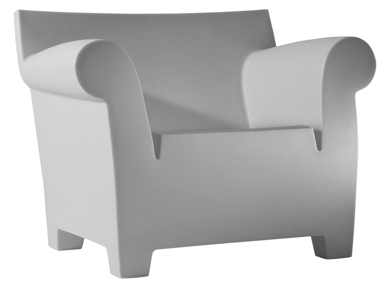 Arredamento - Poltrone design  - Poltrona Bubble Club di Kartell - Grigio chiaro - Polipropilene
