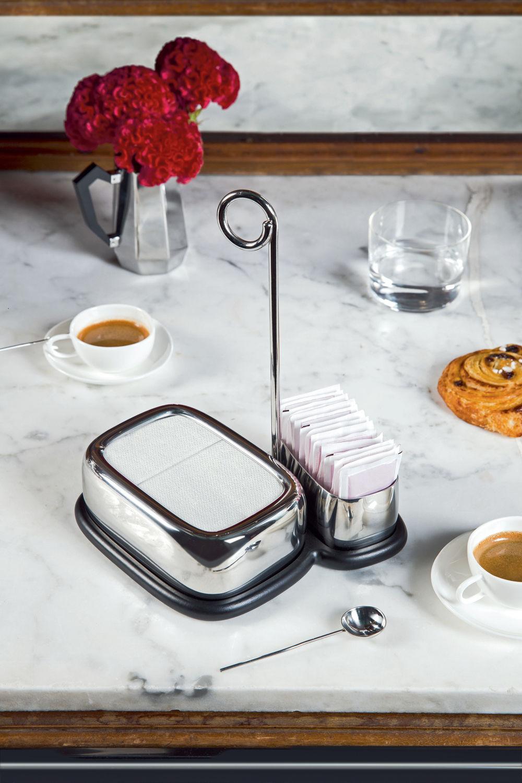 porte serviettes en papier bibo alessi acier l 14 5 x. Black Bedroom Furniture Sets. Home Design Ideas