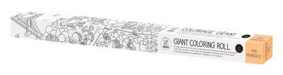 Poster à colorier XXL San Francisco / 180 x 100 cm - OMY Design & Play blanc/noir en papier