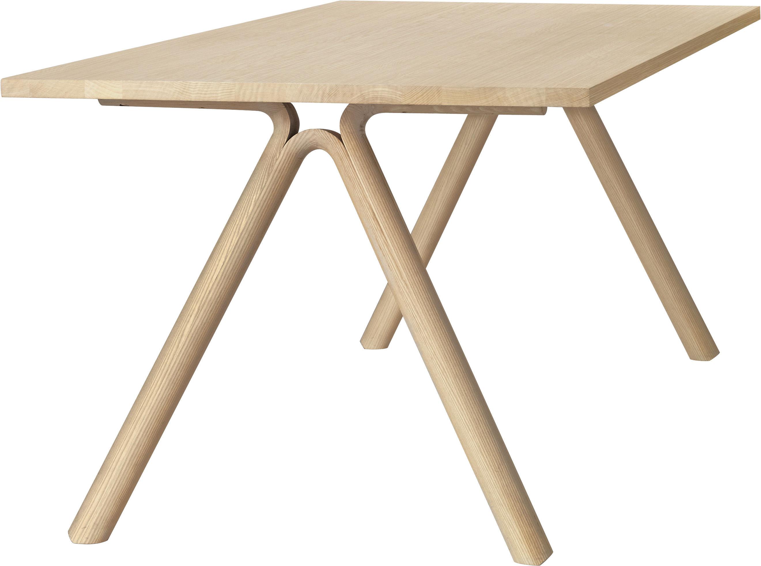 Trends - Zu Tisch! - Split rechteckiger Tisch L 220 cm - Muuto - Eiche massiv - massive Eiche