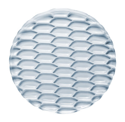 Tischkultur - Platten - Jellies Family Servierplatte / Ø 33 cm - Kartell - Himmelblau - Technopolymère thermoplastique