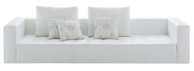 Möbel - Sofas - Kilt Sofa Leder - 3-Sitzer - Zanotta - Leder - weiß - Leder