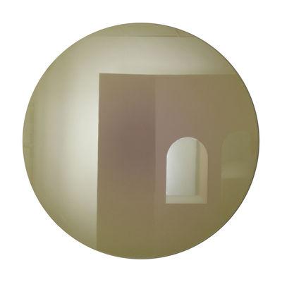 Interni - Specchi - Specchio murale Fading Large - / Ø 103 cm di ENOstudio - Oro - Vetro serigrafato