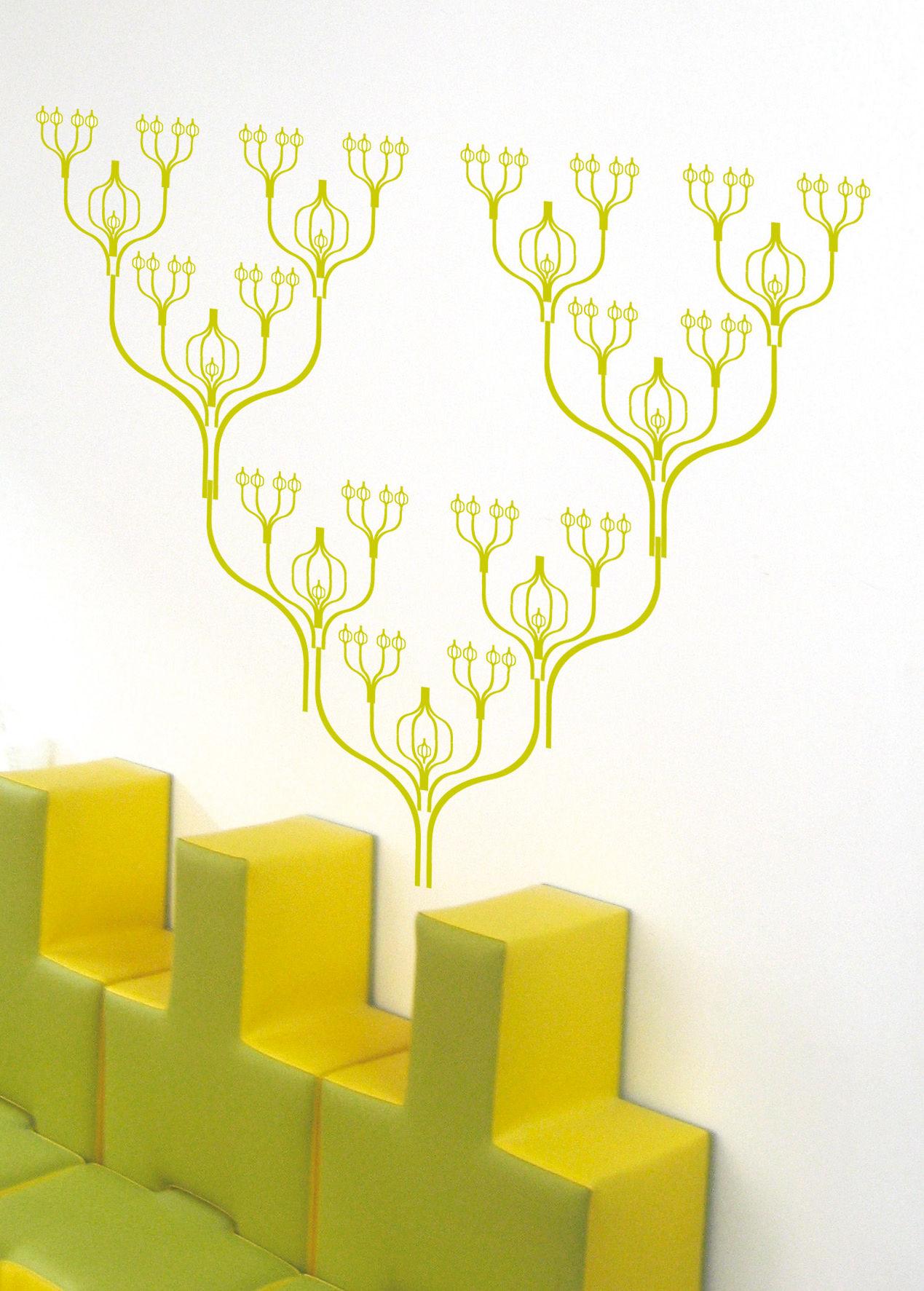 Déco - Stickers, papiers peints & posters - Sticker Greenspline - Domestic - Vert - Vinyle