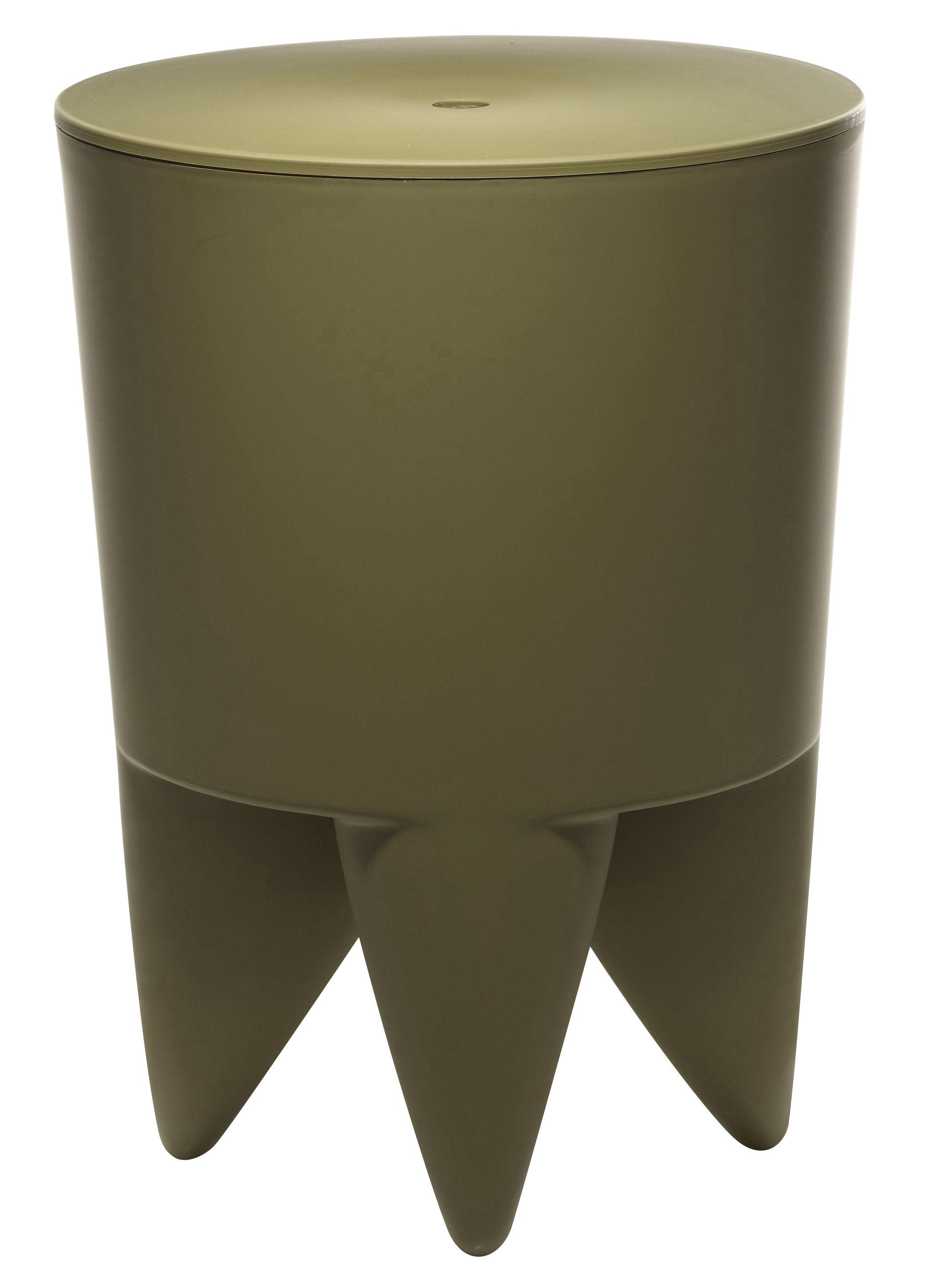 Furniture - Teen furniture - New Bubu 1er Stool by XO - Kaki - Polypropylene