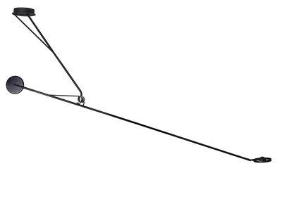 Luminaire - Suspensions - Suspension Aaro LED / L 162 cm - Bras mobile - DCW éditions - Noir - Acier, Aluminium anodisé