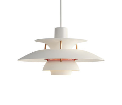 Suspension PH 5 Mini / Ø 30 cm - Louis Poulsen blanc moderne en métal