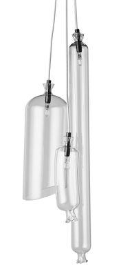 Suspension So-Sage Triple n°3 / Grappe 3 suspensions - Petite Friture transparent en verre